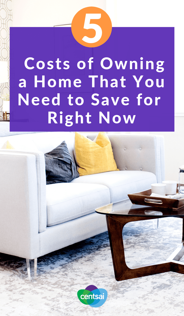 5 Costs of Owning a Home That You Need to Save for Right Now. Are you ready to cover all the expenses that will come with a house? Start saving today for these often overlooked costs of owning a home. #savingtips #realestate #investing #homeowning