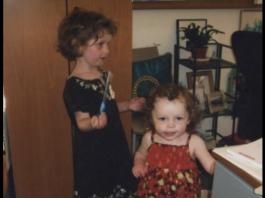 How I Balance My Career With Raising Children: Doria's girls visiting her at work