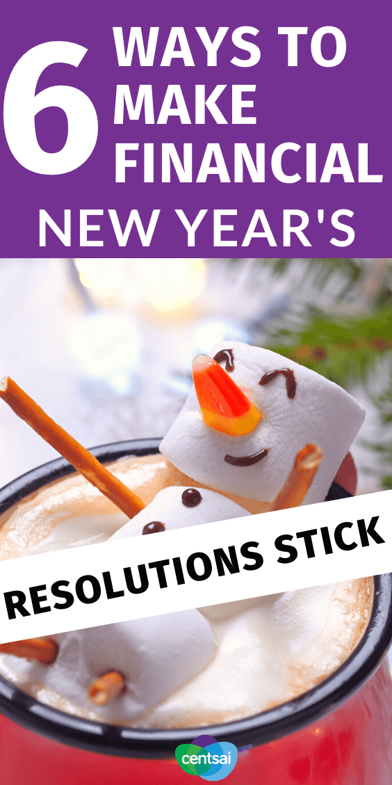 Got financial New Year's resolutions? Don't just set 'em and forget 'em. If you want to stick with it this year follow these tips for success. #CentSai #NewYearsResolutions #savingtips #savemoney