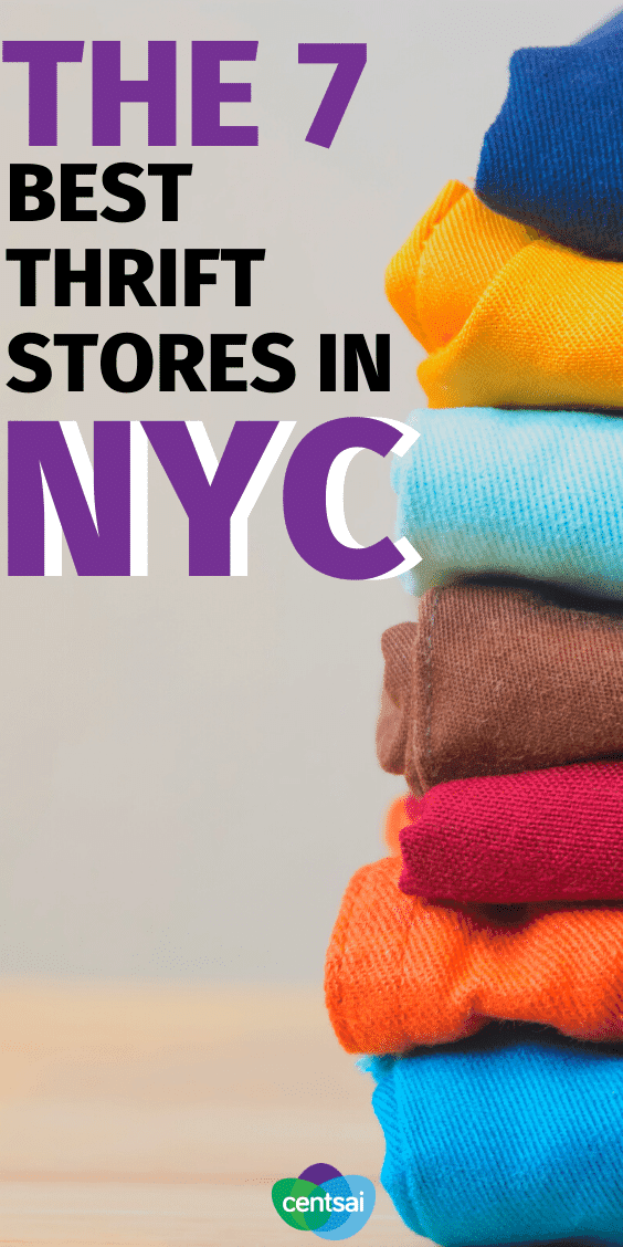 Need new clothes, but got a budget? Look no further than your local thrift shop. We found some of the best thrift stores in NYC. #thriftstoresfind #thriftstorefashion #budgeting #frugaltips #CentSai