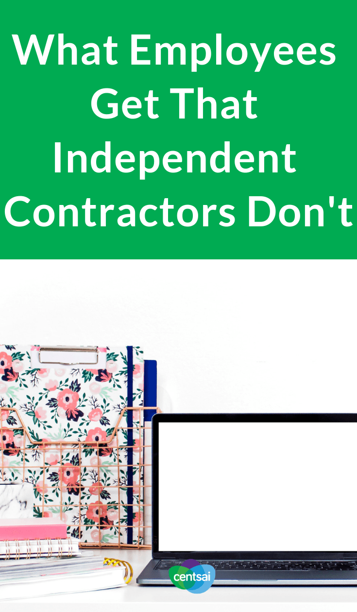 What Employees Get That Independent Contractors Don't. Everybody raves about freelancing, so why work full-time? Check out the benefits of being an employee vs. an independent contractor. #employee #independentcontractor #freelance #career