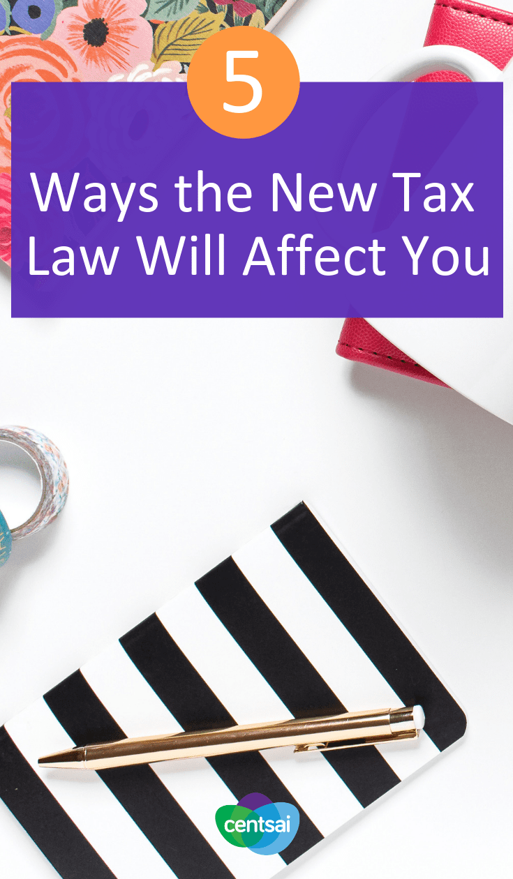 "5 Ways the New Tax Law Will Affect You. Do you find yourself wondering, ""How will the new tax law affect me?"" Check out this breakdown of what the new rules mean for you. #tax #personalfinance #moneymatters"