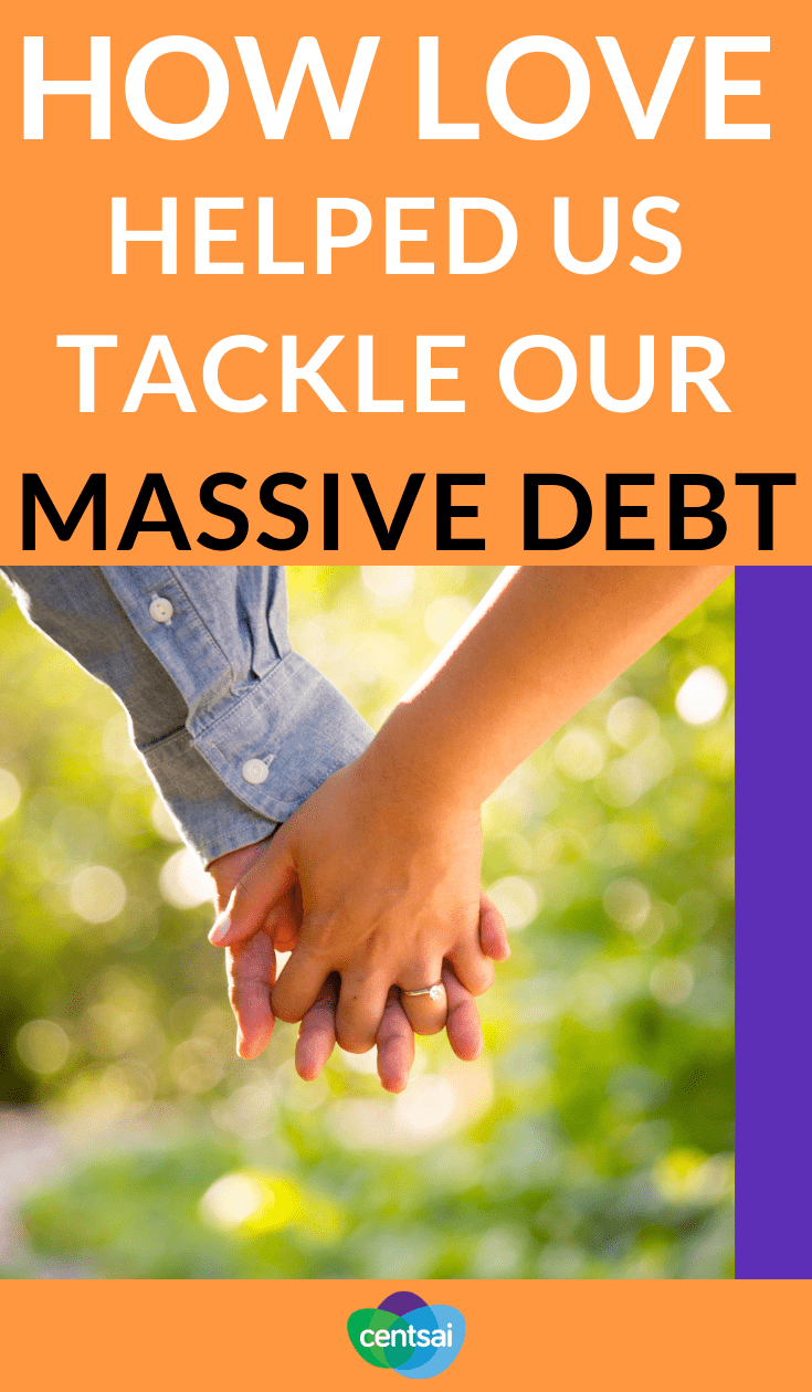How Love Helped Us Tackle Our Massive Debt. Having tons of debt is scary, especially if you're dealing with both your own and a spouse's. Learn how to handle student loans and marriage. #debtmanagement #relationship #marriage #studentloans #studentloansdebt