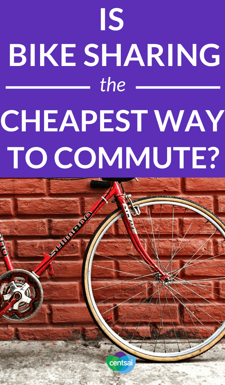 Is #BikeSharing the Best Way to Commute? Commuting can be a huge drain, in terms of both time and money. But could bike sharing help you cut costs? Read about the pros and cons. #frugaltips #savingtips #costofliving