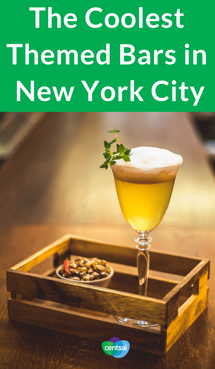The Coolest Themed Bars in New York City. Want to spice up your weekend? Check out fun themed bars in NYC. But hold onto your wallet — some of these joints cost a pretty penny. #entertainment #food #frugaltips #NewYork