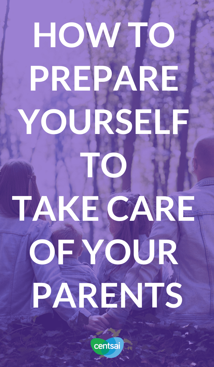 How to Prepare Yourself to Take Care of Your Parents. Whether we like it or not, all of our parents are getting older. It's time to prepare. Make sure you're ready to take care of your parents. #personalfinancetips #moneymanagement #financialmatter