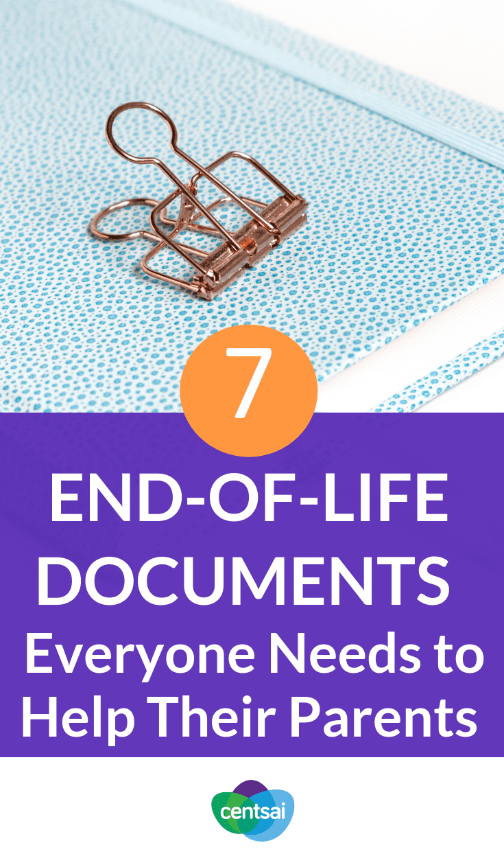 7 End-of-Life Documents Everyone Needs to Help Their Parents. Do you ever worry about how you'll take care of your parents when they get older? Make sure they have these #endoflifedocuments in place. #financialliteracy #financialplanning #financialindependence
