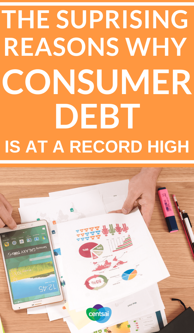 The Suprising Reasons Why #ConsumerDebt Is at a Record High. Total #consumerdebt in America has reached a record high: over $13 trillion. Learn what that means for you, and what you can do about it. #personalfinance #personalfinancetips #financialliteracy #financialplanning