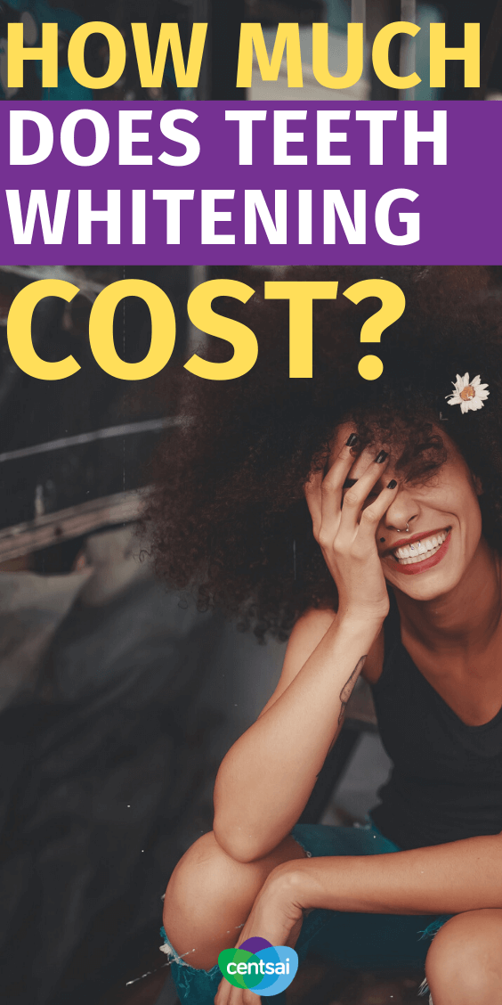 The True Cost of Teeth Whitening. So you want your pearly whites to be pearlier and whiter, but how much does teeth whitening cost? Are there cheap methods? Let's find out. #health #beautyblog #beautytips #frugaltips #CentSai