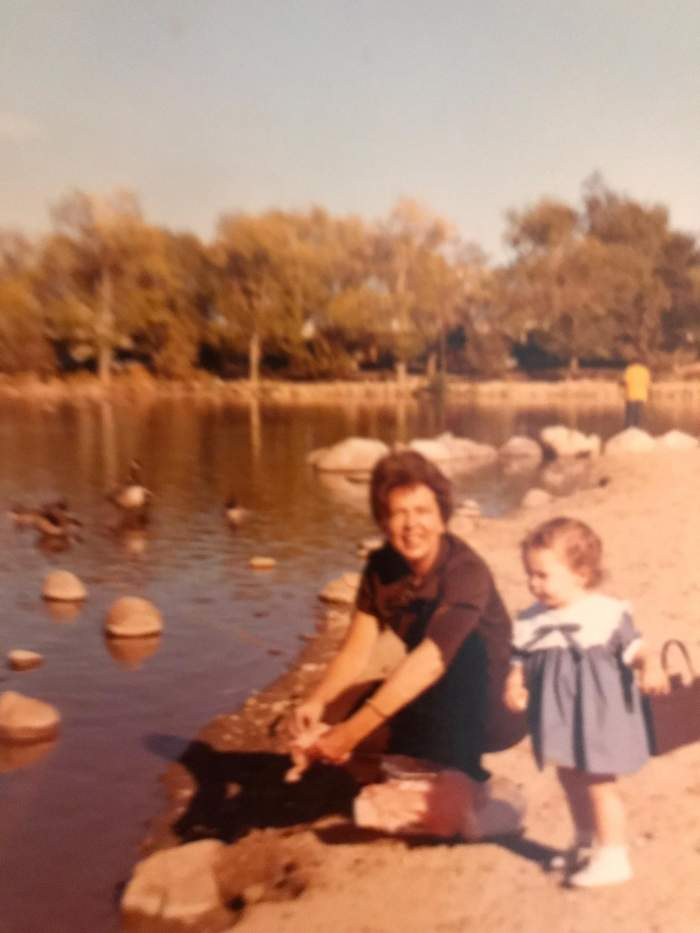 How Hardship Shapes Financial Values: Lessons From My Mother and Grandmother | financial values, hardship | Doria Lavagnino as a child with her mother