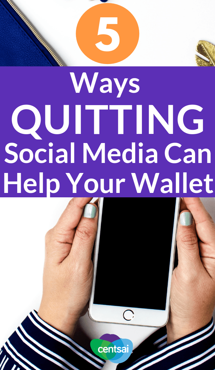 Getting sucked down that Facebook rabbit hole may waste more than just your time. Learn why you should consider quitting social media. #beingfrugal #frugalideas #frugal