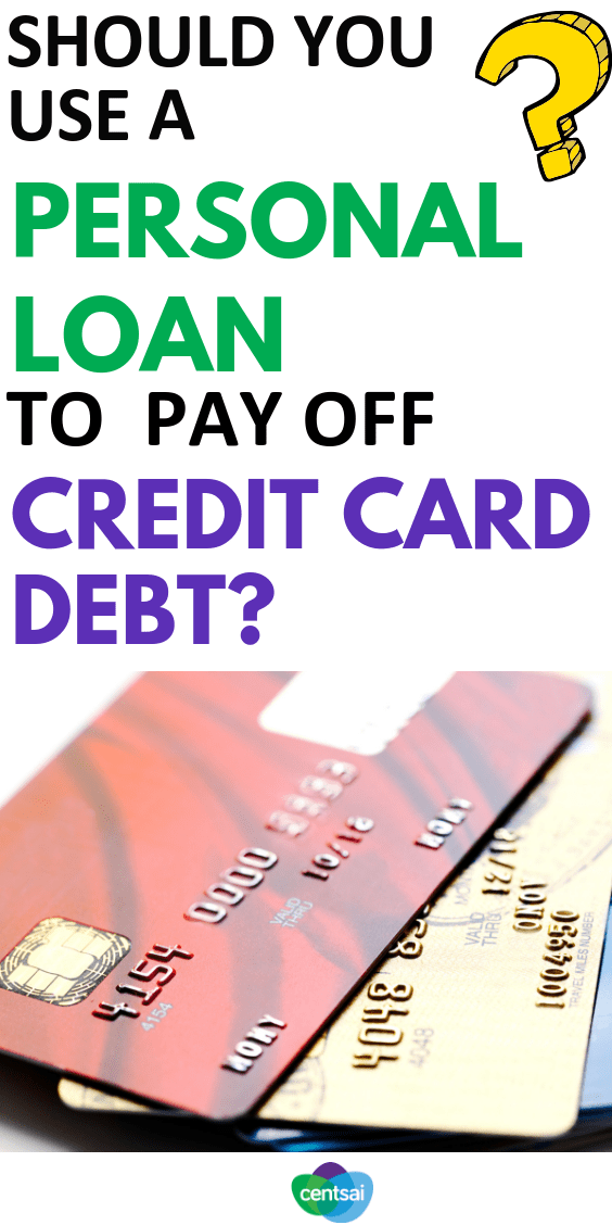 Is it a smart idea to use a #personalloan to pay off #creditcard debt? Check out the pros and cons to see if it's the right move for you. #creditcarddebt  #improvecreditscore #creditscore #bettercreditscore