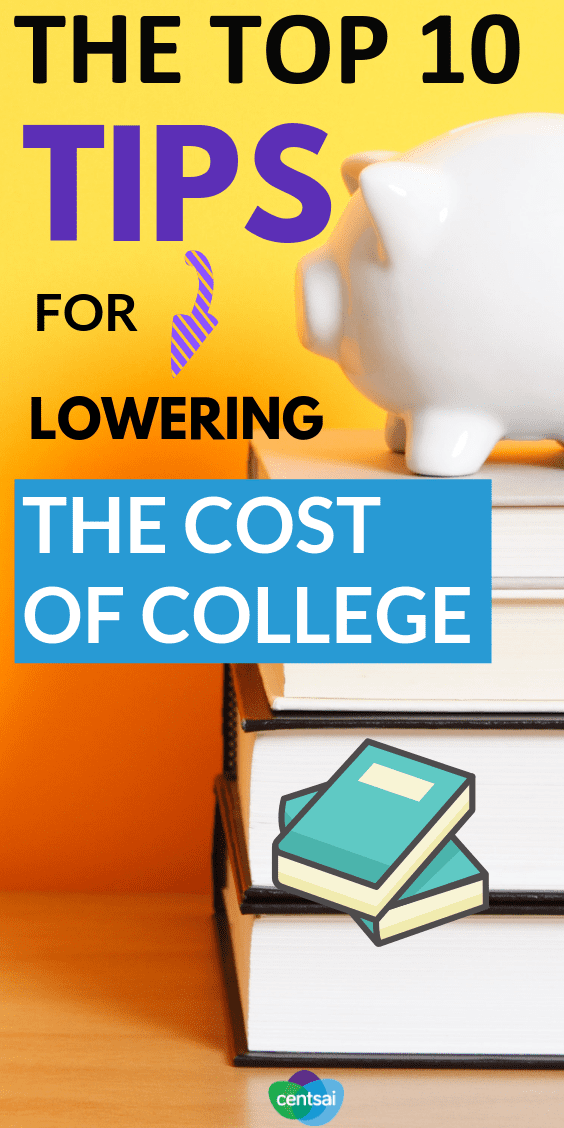 If you want your kids to graduate from college debt-free, but didn't start #saving before junior was conceived, check out these 10 tips for lowering the cost of #college #personalfinance #finance #financeplanning