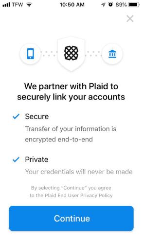 Partnership with Plaid