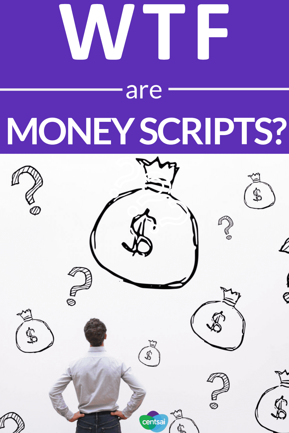 WTF Are Money Scripts? Do our #moneyscripts hold us back? Learn what they are, how they work, and how you can write a positive one for yourself. #financialwellness #moneymindset #saving #earn
