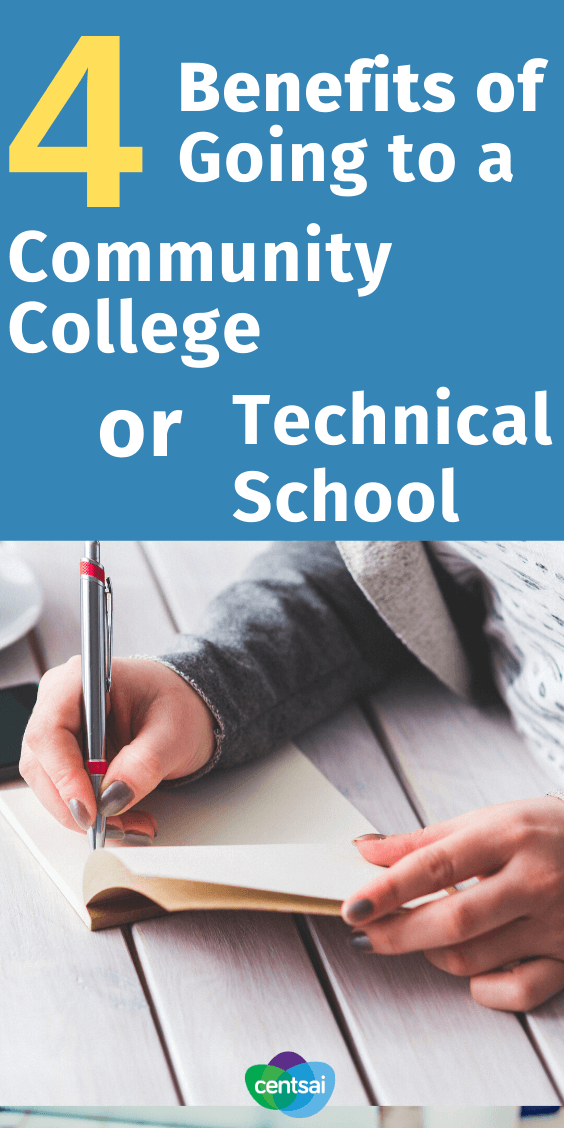 Should You Go to a Community College or Technical School? Have you thought about what you'll do next after high school? Check out the benefits of going to a community college or technical school. #educationblogs ##education #college #collegehacks #CentSai