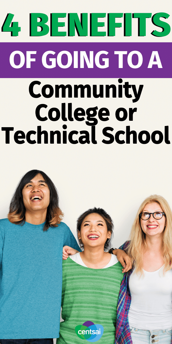 Should You Go to a Community College or Technical School? Have you thought about what you'll do next after high school? Check out the benefits of going to a community college or technical school. #CentSai #educationblogs #education #college #collegehacks #millenialtips