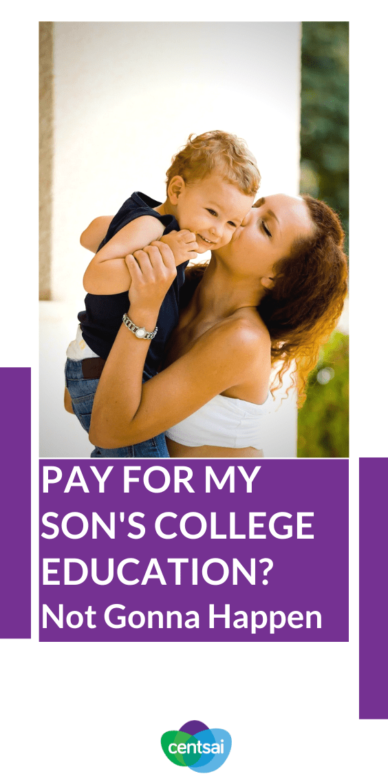 One woman wants her child to value his college education. What better way than to have him pay for most of it himself? Learn more about her strategy. #Education #College #CentSai #collegeeducation