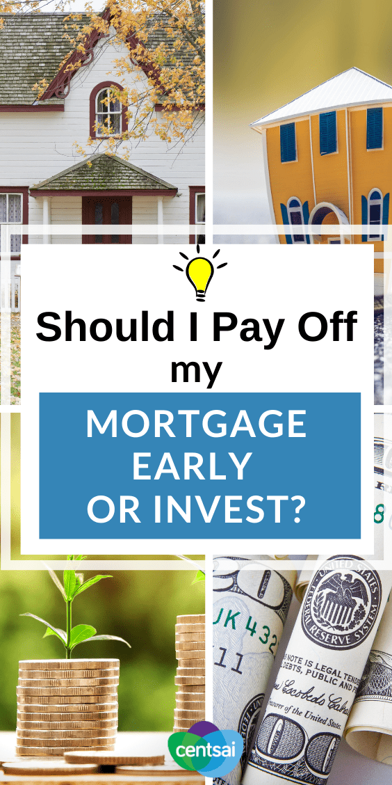 Many homeowners face a nagging question: Should I pay off my mortgage early or invest? Get answers and ideas from someone who's been there. #investment #CentSai #mortgage #financialtips