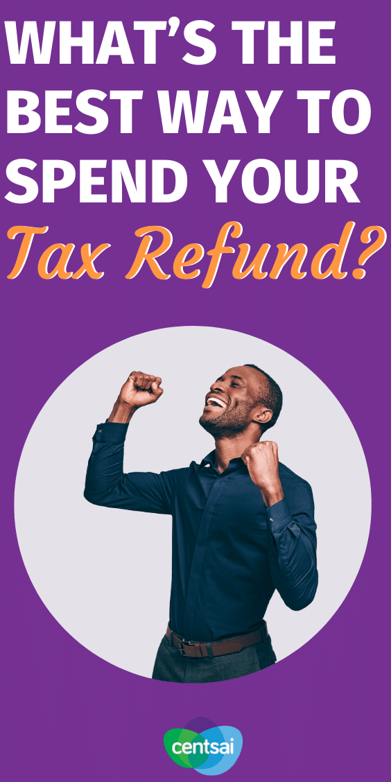 Some people get thousands of dollars back in their tax refund. If you're one of those people, what's the best way to spend that windfall? #CentSai #taxrefund #taxes #taxmoney #taxes #moneytips