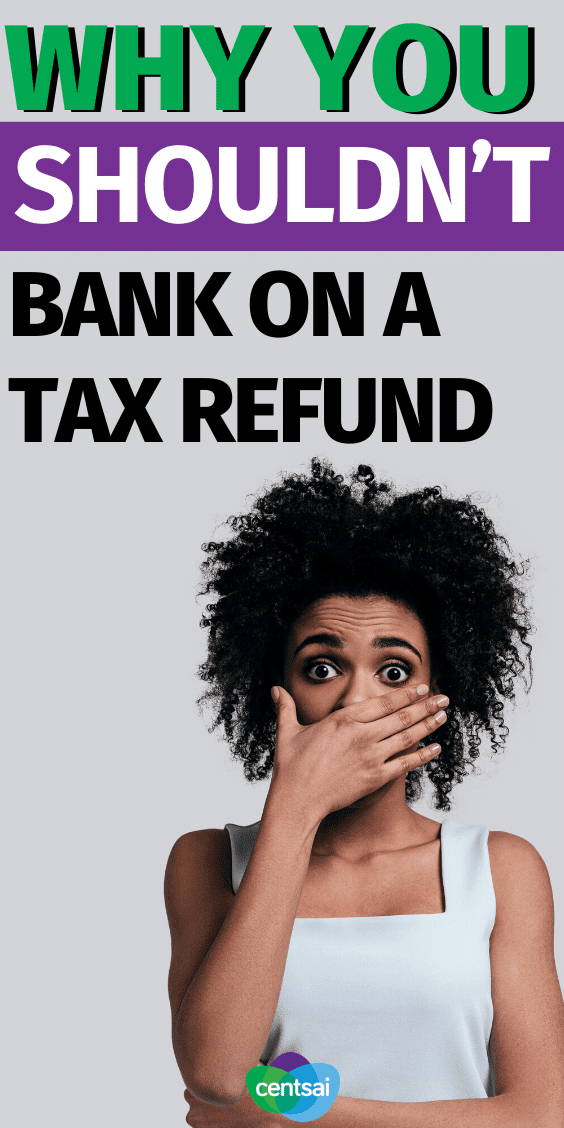 So you've got plans for your refund, but what if you get less back than expected? Learn how to avoid some of the most common tax mistakes. #CentSai #taxrefundtips #taxes #taxrefund