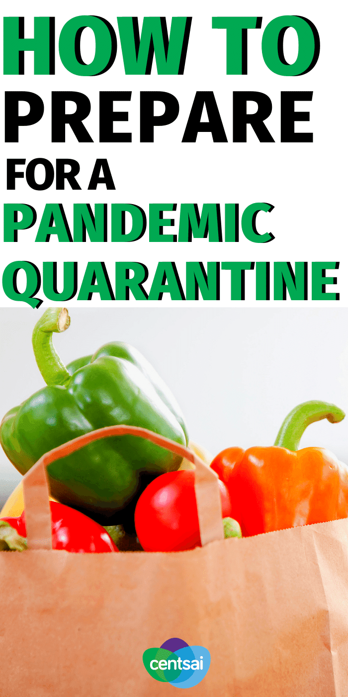 You don't want to be caught without essentials in a crisis, but panicking could do more harm than good. Learn how to prepare for a pandemic. #CentSai #savemoney #homequarantine #budget #saveongroceries