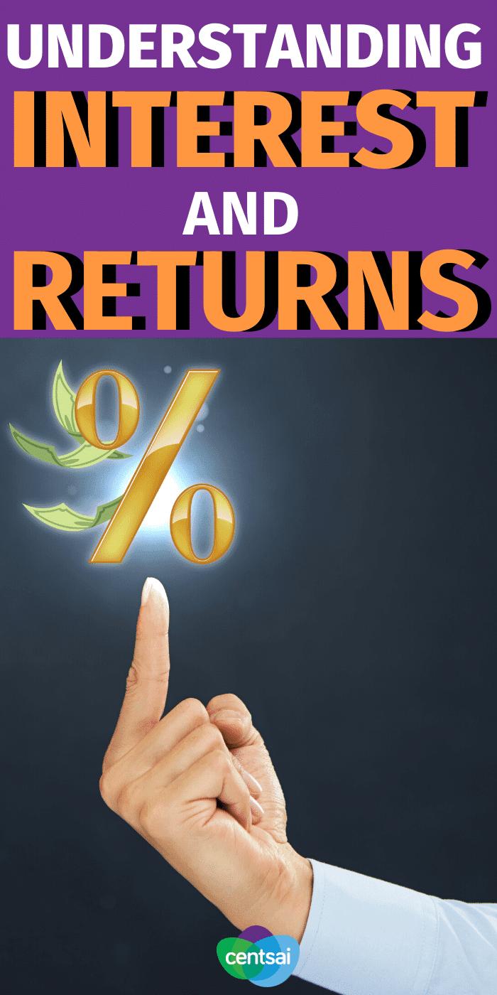 Tomarse el tiempo para comprender los intereses y el rendimiento de las inversiones es el primer paso para alcanzar sus objetivos financieros. Repase algunos términos clave. #CentSai #investmentreturns #financialplanificación