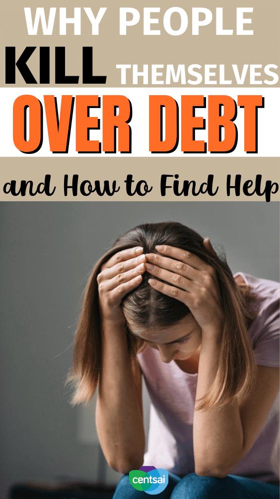 Por qué la gente se suicida por deudas y cómo encontrar ayuda. La deuda es una de las principales causas de suicidio. Si está pensando en suicidarse por una deuda, busque ayuda de inmediato. Considere estos recursos. #CentSai #debtmanagement #debtmanagementplan #debtpayment