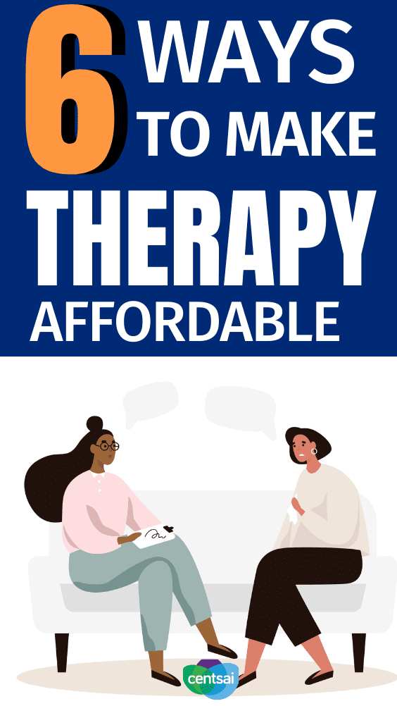 6 Ways to Make Therapy Affordable. Taking care of your mental health can seem expensive, but there are ways to cut costs. Learn how to make therapy affordable with these tips and advice. #CentSai #session #activities #mentalhealth #frugaltips