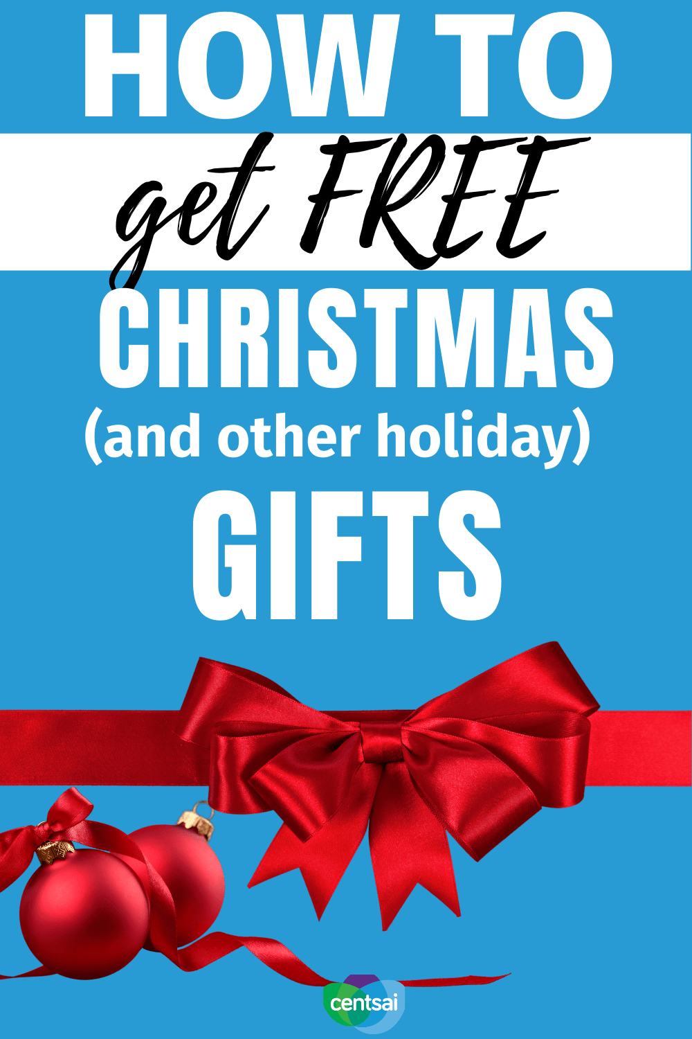 How to Get Free Christmas (and other holiday) Gifts. Does your holiday spending often spiral out of control? Check out these holiday budget tips to help keep more money in your wallet. #CentSai #budget #moneyimindset #holiday #budgetingtips #frugaltips