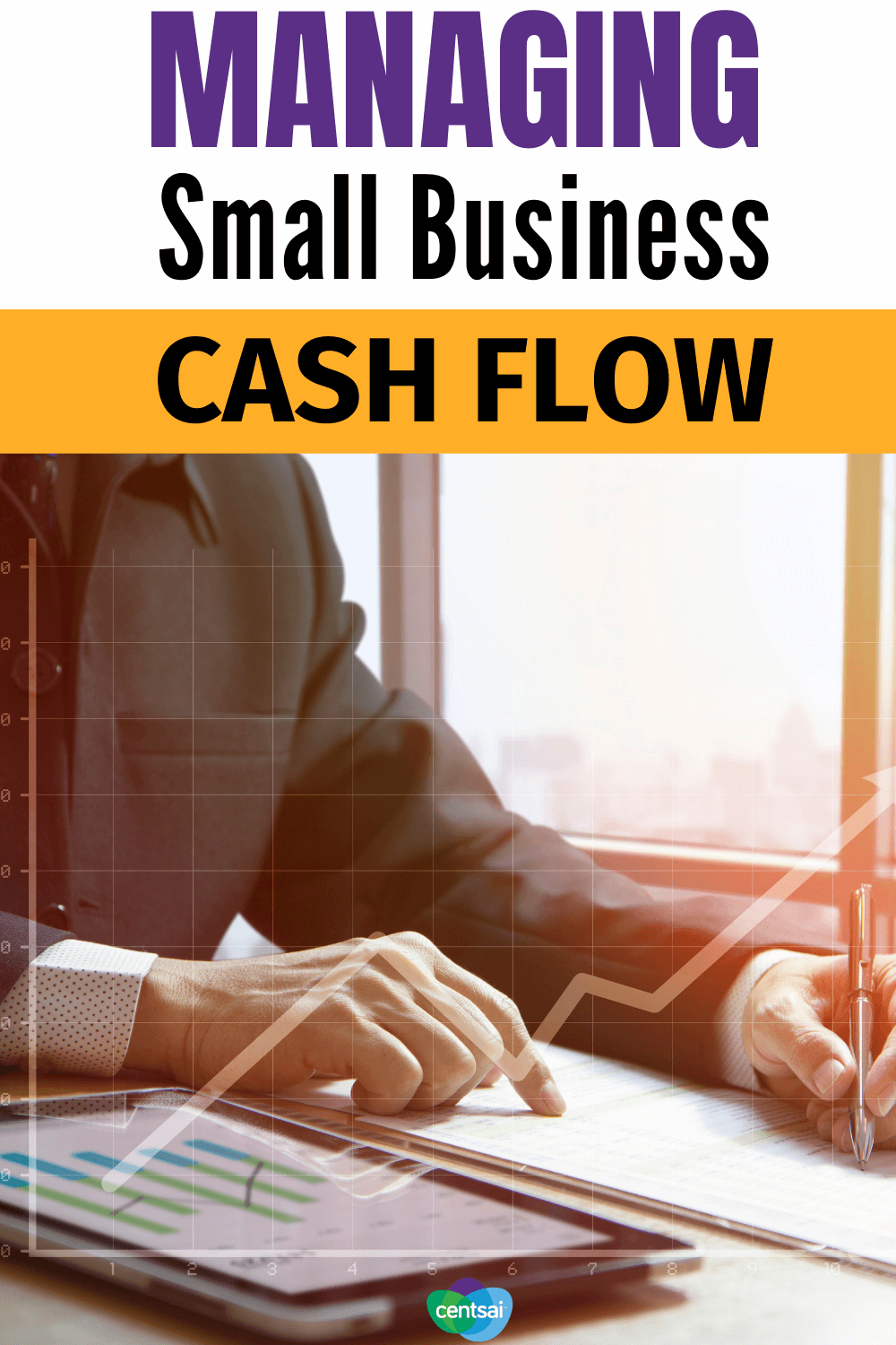 Managing Small Business Cash Flow. Managing cash flow is an issue for many small businesses. Here are some tips to help your business handle the financial stress. #CentSai #smallbusiness #cashflow #entrepreneurship #smallbusiness
